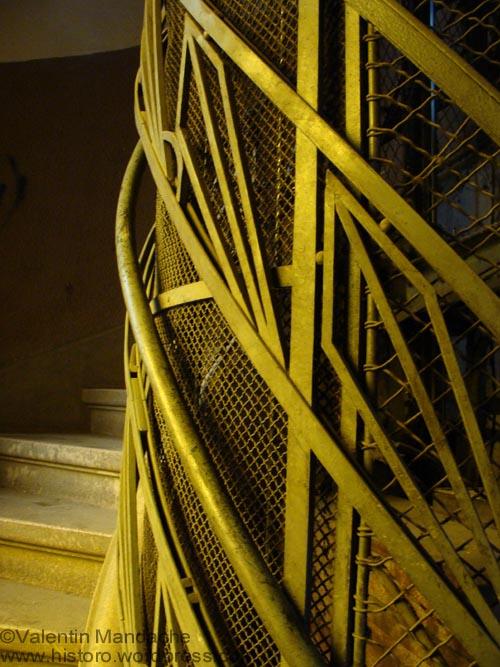 Art Deco lift shaft ironwork