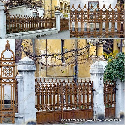 Gard Si Porti Din Fier Forjat In Stil Neoromanesc
