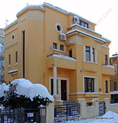 Bucharest 1932 Art Deco Style House Valentin Mandache Architectural Historian
