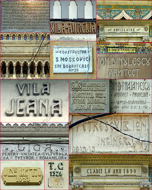 Neo romanian style architectural lettering photomontage - Romanian architectural styles ...