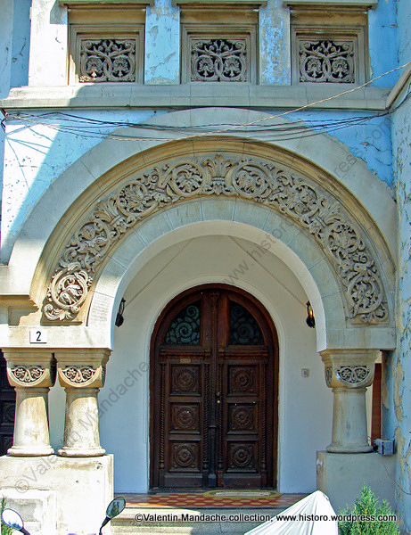 Monumental neo romanian style doorway historic houses of - Romanian architectural styles ...