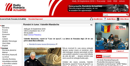 "Listen online to the radio interview given by the ""Historic Houses of Romania"""