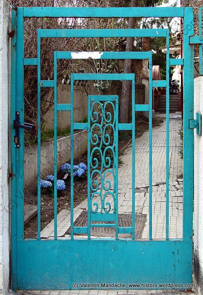Art deco garden gate historic houses of romania - Art deco gardinen ...