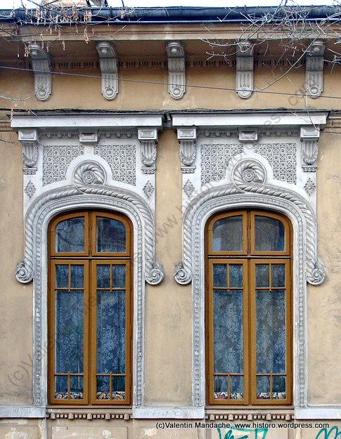 Bucharest neo romanian style windows historic houses of romania - Romanian architectural styles ...