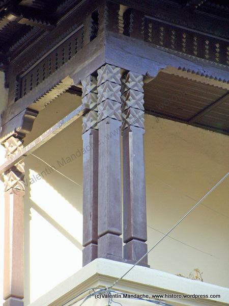 Veranda ethnographic wooden poles historic houses of romania case de epoca - Neo romanian architecture traditional and functional house plans ...