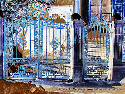 Neo romanian wrought iron gate historic houses of romania case de epoca - Neo romanian architecture traditional and functional house plans ...
