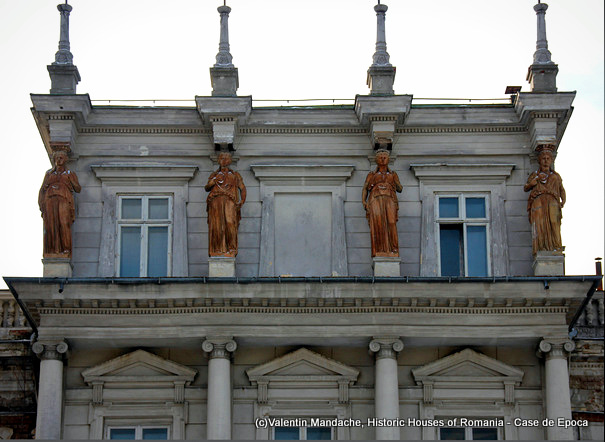 Atlantes and caryatides of Bucharest