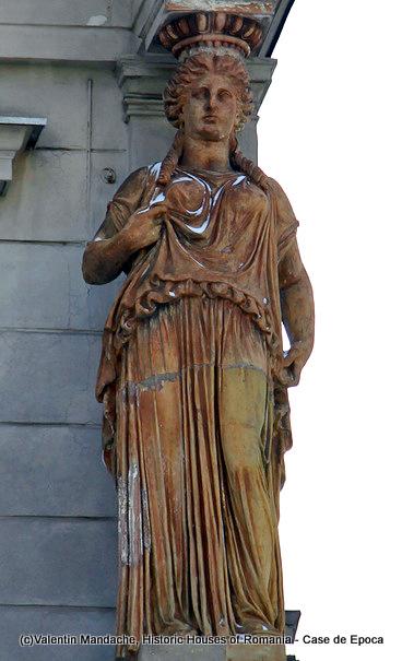 Atlantes and caryatides of Bucharest