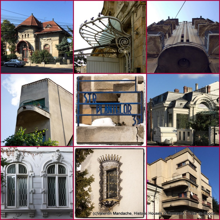 Historic Houses or Romania architecture walking tour in Platelor area, Bucharst