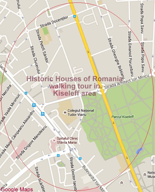 Historic Houses of Romania walking tour in Kiseleff area