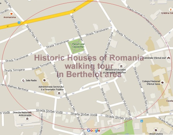 Historic Houses of Romania walking tour in Berthelot area