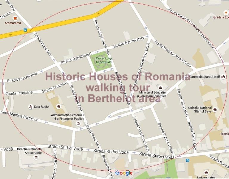 Historic Houses of Romania walking tour in Berthelot area